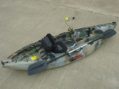 SIT ON TOP FISHING KAYAK GALAXY CRUZ WITH FISH FINDER AND TROLLEY