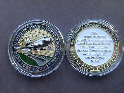 STS-1 flown medal, Enameled medal, Space Shuttle Columbia, VERY RARE!