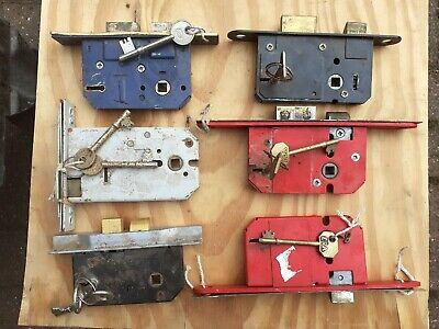 Vintage Mortice Door Lock Locking With Key old Sizes available Sold singular one