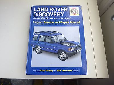 Land Rover Discovery Diesel (1989-1995) Haynes Service & Repair Manual