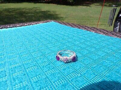 Judith Ripka Ruby Doublet Ring - size 8