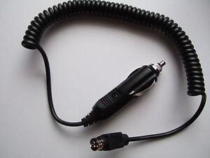 12V, 4 pin, car cigarette, cigar lighter coiled adapter lead for LED TV