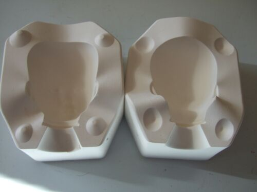 """THE DOLL INC. ARTWORKS  DOLL HEAD MOLD  9"""" BABY BAILEY  BY D. RUBERT 1996  #745A"""