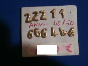 11 numeri in lamiera X fregio di stoffa X cappello militare (11-222-444-666-) - Italia - 11 numeri in lamiera X fregio di stoffa X cappello militare (11-222-444-666-) - Italia