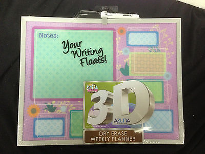 - The Board Dude 3D Azuna Dry Erase Board Weekly Planner 13916UA  Free Shipping