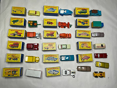 LOT OF 20 Vintage Matchbox by Lesney Diecast Toy Cars Mostly In Box