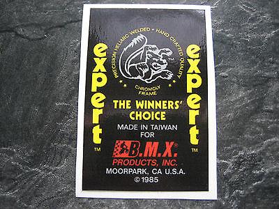 MONGOOSE BMX STICKER OLD SCHOOL BMX MONGOOSE EXPERT BMX FRAME STICKER 80S BMX