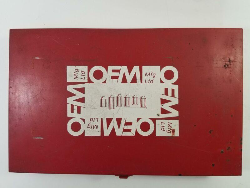 OEM Mfg Ltd Pin Kit Metal Box 25 Bin Insert No Pins Good Heavy Box 12x7.5