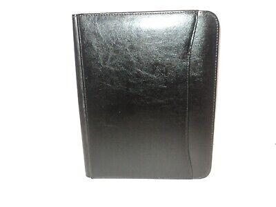 New Renaissance Writing Pad Padfolio Black Italian Style Leather By Leeds