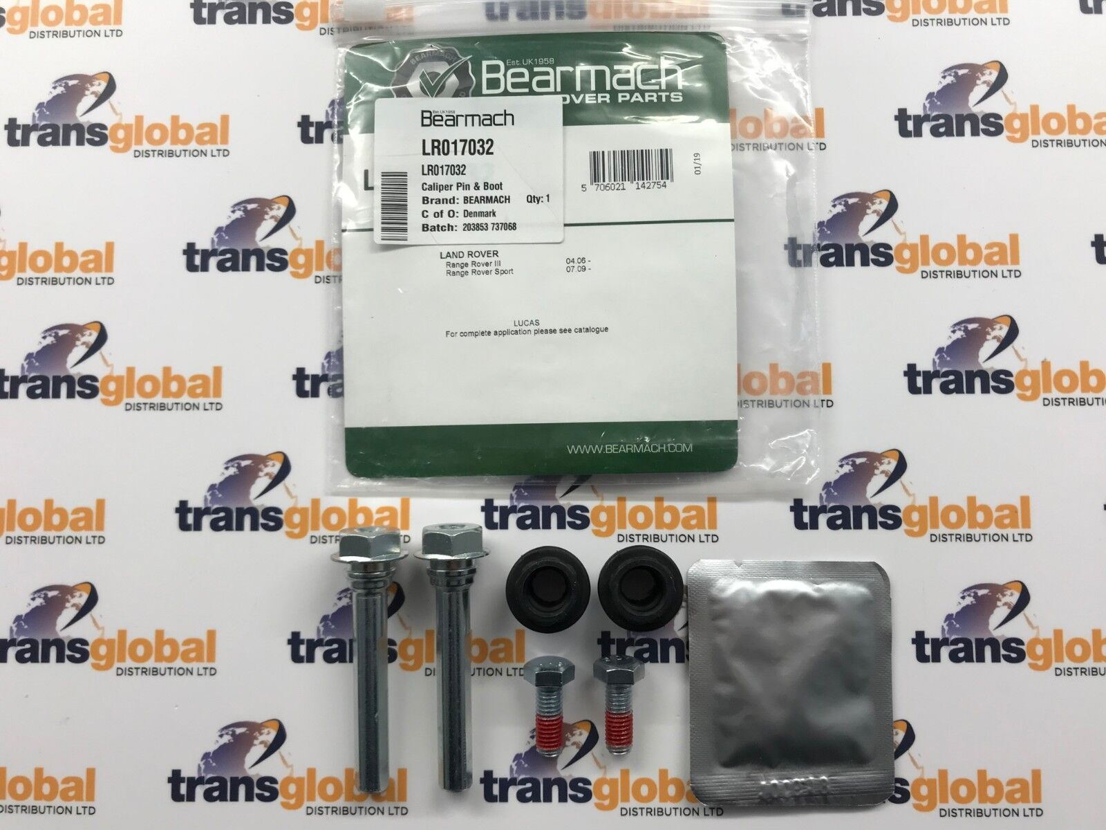 SEE500020//40 Land Rover Discovery 3 Front /& Rear Caliper Pin /& Rubber Boot Kit