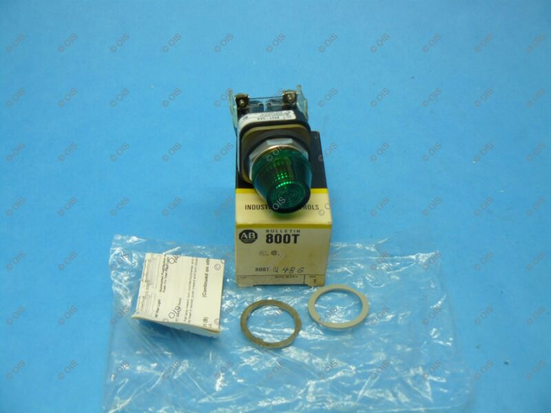 Allen Bradley 800T-Q48G /T Pilot Light 30.5 MM 48VAC/DC Green New
