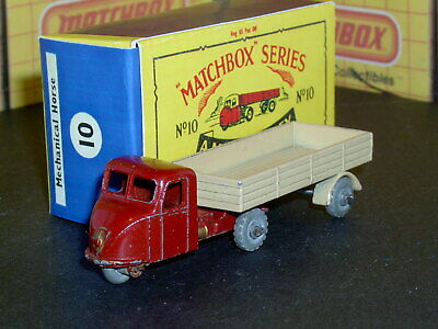 Matchbox Moko Lesney Scammell Mechanical Horse 10 b1 MW F-C SC3 EXC crafted box