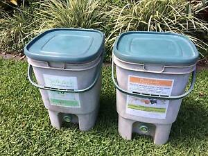 Two Bokashi recycle bins - eco fertilizer for your garden! Palmview Maroochydore Area Preview