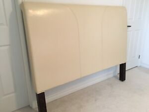 Queen Size Leather Headboard from Pier One