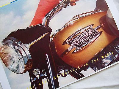 TRIUMPH 1957 MOTORCYCLE SALES BROCHURE SPEED TWIN, 110, TROPHY, THUNDERBIRD