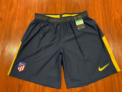 2017-18 Nike Mens Atletico Madrid Away Player Issue Soccer Jersey Shorts XL Navy image