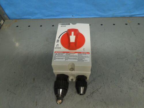 Square D MD3304X 30A 3PH 600V NEMA 4X Manual Motor Controller - Motor Disconnect