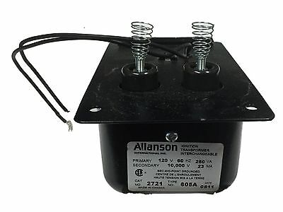 Beckett 2289u Allanson 2721-605 2721-605a Transformer For S Series Burner