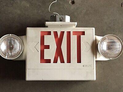 Vintage Exit Sign With Side Lights
