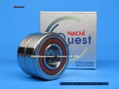 Nachi 20tab04u-2lrgm P4-abec7 Sealed Ball Screw Bearings. Matched Set Of 2
