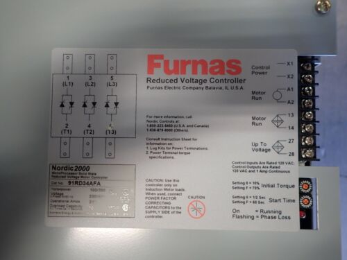 FURNAS  NORDIC 2000 Reduced Voltage Motor Controller 91RD34AFA 200 HP 460V