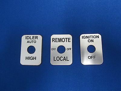 Fits Lincoln Welder Sa-200 Sa-250 Toggle Switch Legend Plates Silver