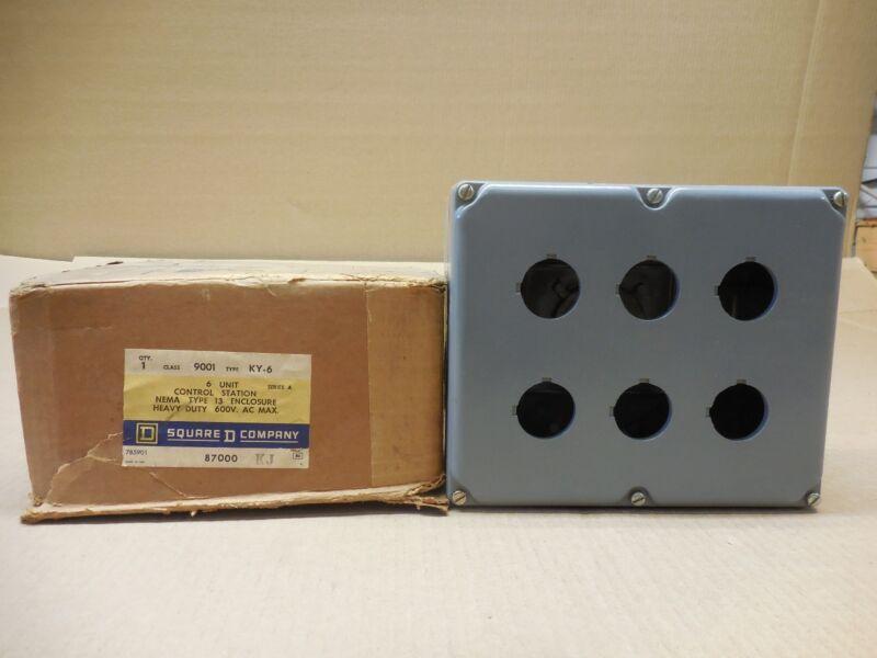 1 Nib Square D Ser A 9001ky6 9001-ky6 6 Unit Control Station Nema Type 13 600v