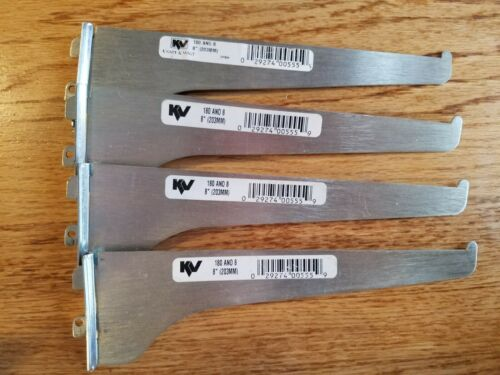 "SHELF BRACKETS Lot of 4 pcs. Knape & Vogt 180ano 8"" Chrome/Silver (203MM), used"
