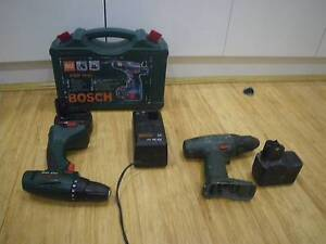 2 BOSCH CORDLESS DRILLS WITH CASE 2 DRILLS 2 BATTERIES & CHARGER Malvern East Stonnington Area Preview