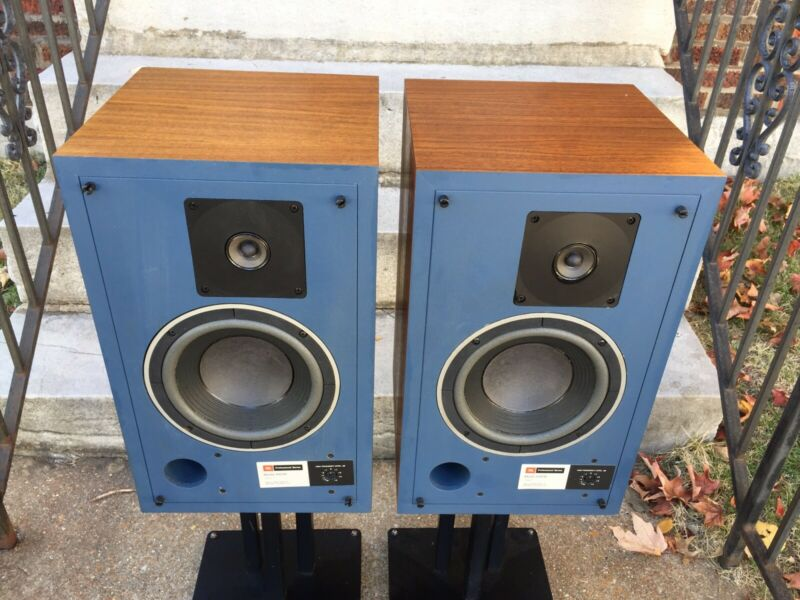 VINTAGE JBL 4301B Control Monitor Speakers EXCELLENT BOOKSHELF WALNUT CABINETS