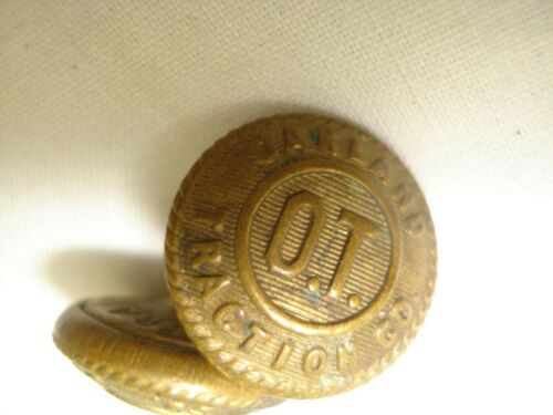 Vintage Oakland Traction Company Buttons Trolley Car Engineers S7C