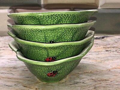 Ladybug Pier 1 Imports Heart Shaped Leaf Bowl Set of 4