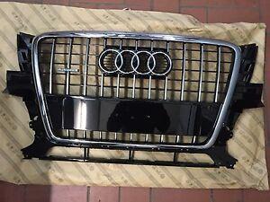 NEU Tuning Q5 8R Chromgrill Original Audi Q5 Kühlergrill PDC klavier chrom Grill