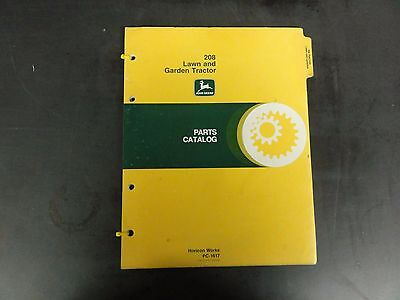 John Deere 208 Lawn And Garden Tractor Parts Catalog  Pc-1617