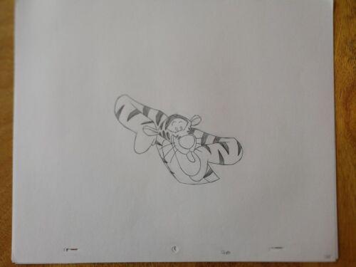 Walt+DISNEY+Animation+Art+Cel+Production+Drawing+Tigger+Winnie+Pooh+%232