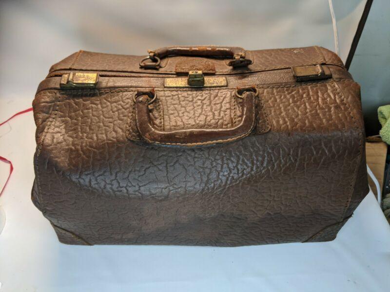 Vintage Cowhide Leather Doctors Bag
