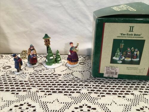 Dept. 56 Two Turtle Doves Twelve Days of Dickens Village Christmas Heritage 4 pc