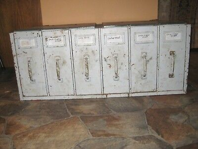 Vintage Industrial Factory Metal 6 Drawer Stacking File Cabinet Steampunk Parts