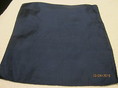 Blue 16 Pocket Square - 100% Silk Navy Blue Pocket Square    16 inch X 16 inch