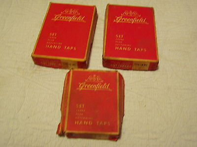 Greenfield Tap Die Lot Of 716-14nc 12-13nc And 516-18ncincomplete