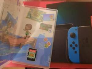 Nintendo Switch Neon Red/Blue with Animal Crossing: New Horizons
