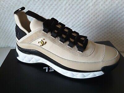 NIB 2020 Chanel Runners Trainers Beige Fabric/Suede/CalfSkin/TPU Sneakers 35-42