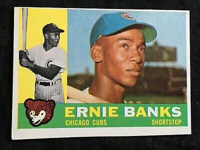 39141abeeb2 1960 Topps ERNIE BANKS  10 HOF Chicago Cubs MLB Vintage Baseball Card