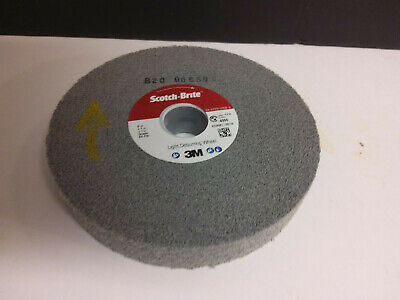 PRICE is per WHEEL 3M Scotch-Brite Convolute Silicon Carbide Soft Deburring Wheel 94911 Arbor Attachment Fine Grade 10 in Diameter 5 in Center Hole 2 in Thickness