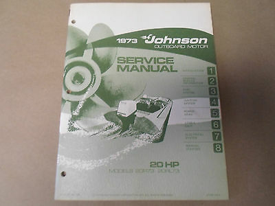 1973 Johnson Outboards Service Manual 20 HP 20R73 20RL73 OEM Boat