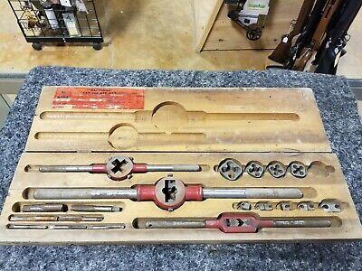 Vintage Sears Craftsman Tap Die Set 5499 Original Wood Case Collectible Tools