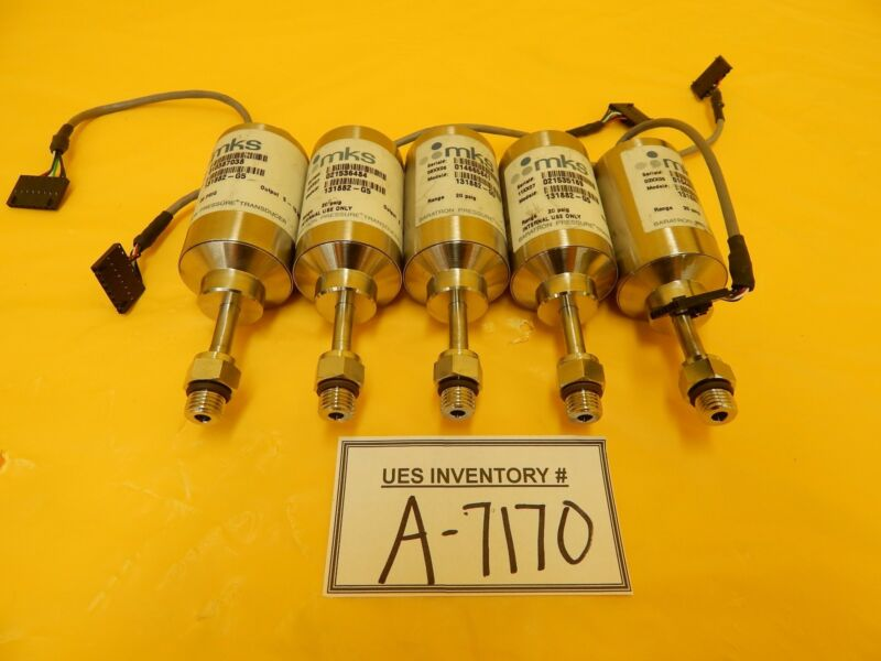MKS Instruments 131882-G5 Baratron Pressure Transducer Reseller Lot of 5 Used