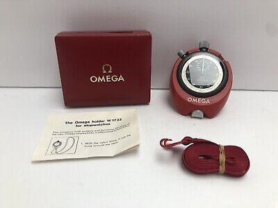 Vintage OMEGA Stopwatch With Desk Stand, Strap, And Box - Swiss Made - Works