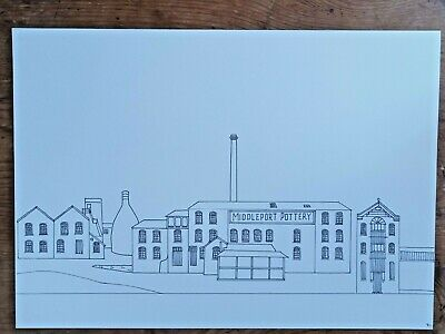 Original A4 Pen Artwork Drawing Middleport Pottery Stoke-on-Trent Christmas Gift