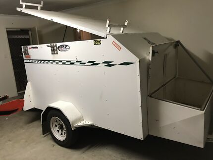 Enclosed motorbike trailer may swap for ute with cash
